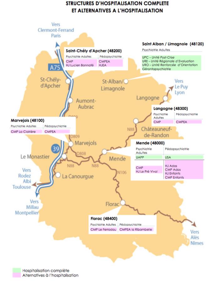 Carte EPSM Lozère